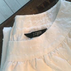 J. Crew Dresses - Size 6 J.Crew White Swiss dot cotton mini dress